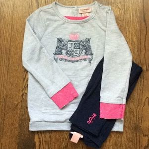 Girls Juicy Couture tunic and leggings set